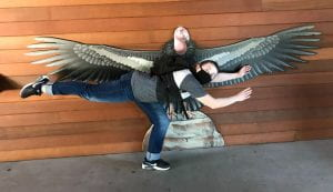 Horizontally posing by a California Condor image